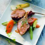 Lammkoteletts mit Röstgemüse - von Heinz Winkler