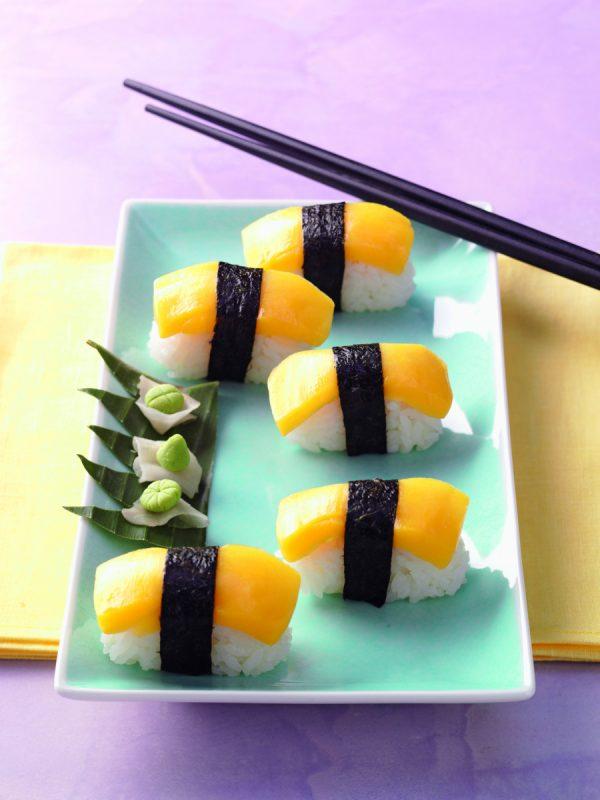Sunshine Sushi (Nigiri Sushi mit Mango)