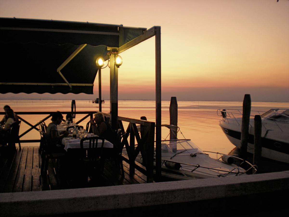 Sehnsuchtsorte Lagune Abendstimmung