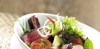 Rezepte irische Küche - Gegrillter Beef Salad