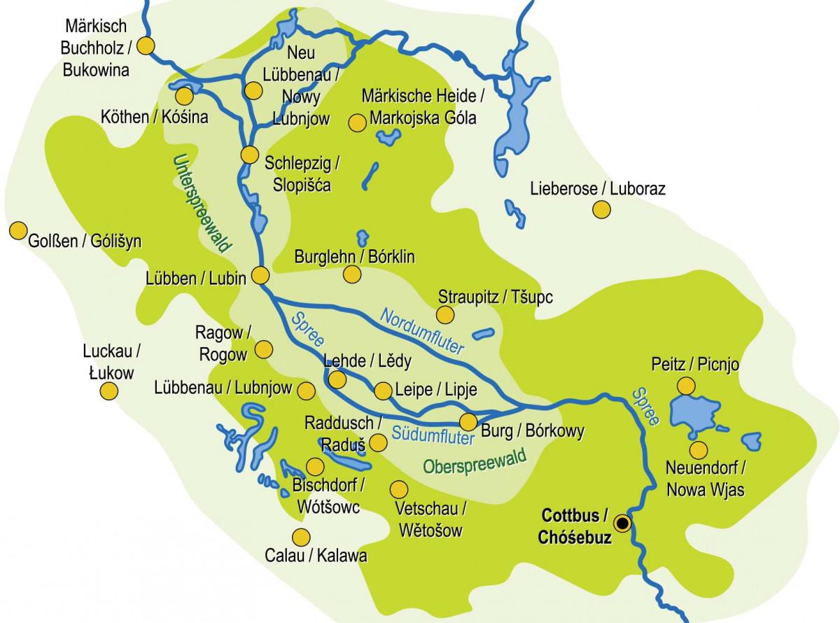 Gewinnspiel Spreewaldkochbuch Landkarte Spreewald