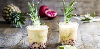 Fruchtiger Cocktail Multi-Colada mit Valensina Späte Ernte