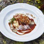 Geschmorte Schweinebacke mit Knollensellerie-Risotto Hulstone