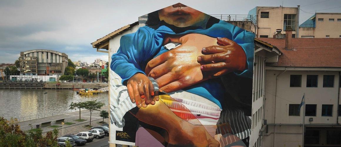 Straßenkunst in Buenos Aires Mama Argentina