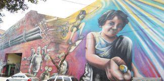 Straßenkunst in Buenos Aires Mural in Barracas