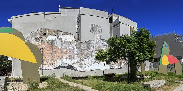Straßenkunst in Buenos Aires Mural in Colegiales2