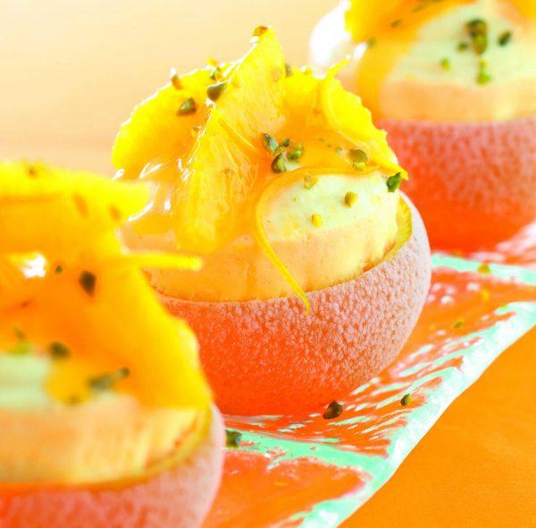 Geeistes Orangen-Gewürz-Soufflé