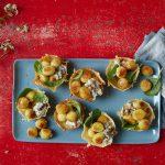 Gefüllte Pfannen-Gnocchi Pilze mit Spinat und Pilzcreme von Giovanni Rana
