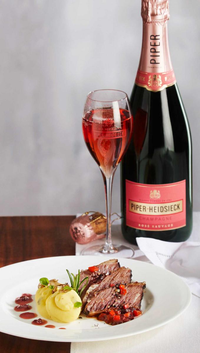 Champagner-Menü Hauptgang Short Rib