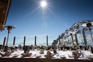 Ausblick von der Wedelhütte und dem Restaurant Albergo im Skigebiet Kaltenbach-Hochfügen