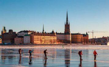 zugefrorene Seen in Europa
