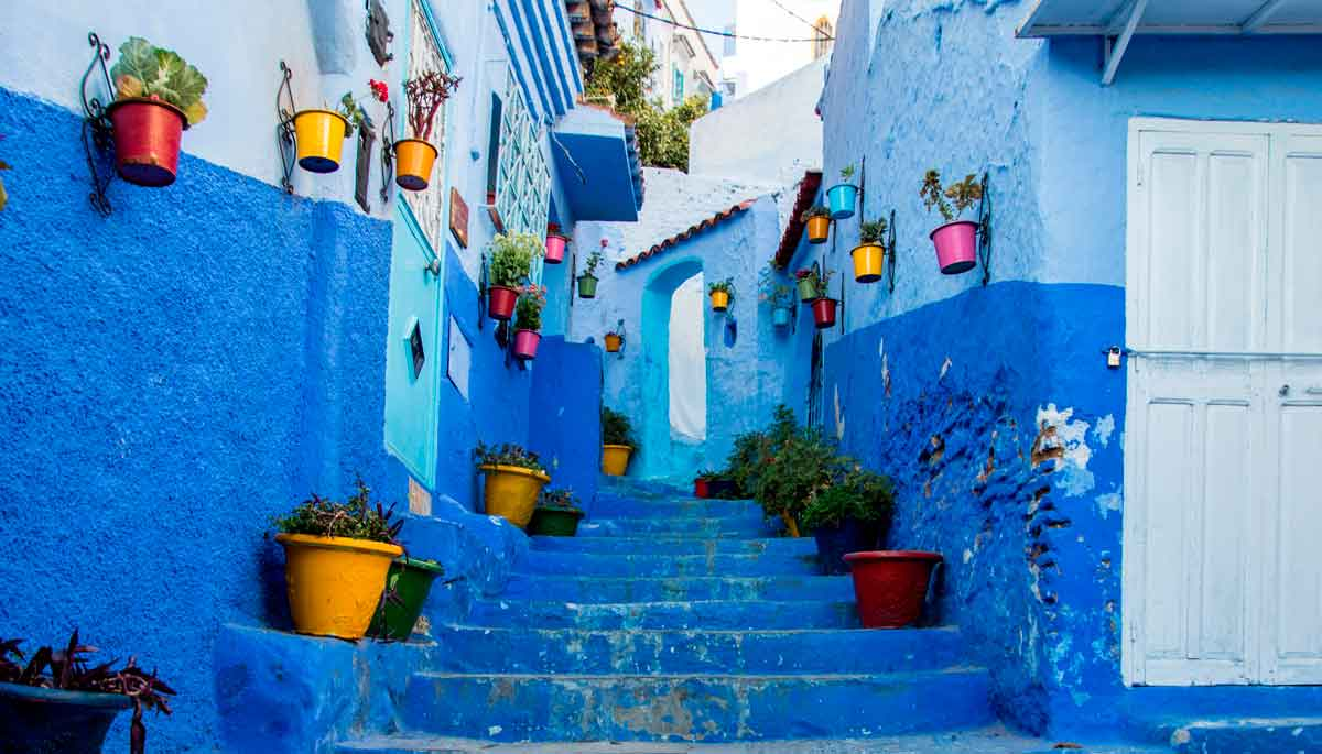 Faszinierende Reiseziele in Blau
