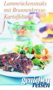 Lammrückensteak mit Brunnenkresse Kartoffelsalat