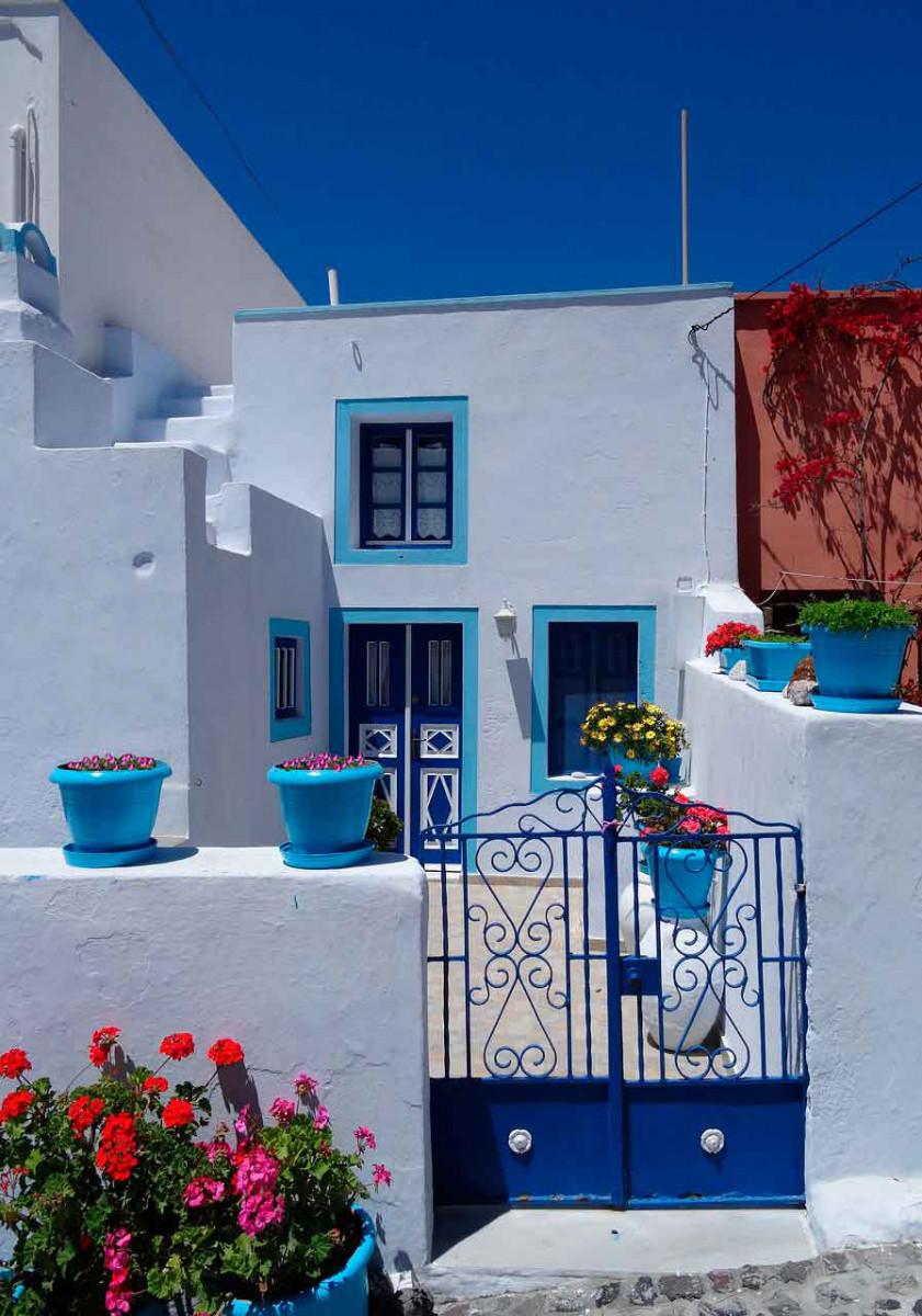 Reiseziele in Blau