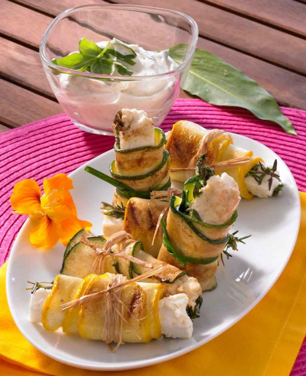 Gefüllte Zucchiniröllchen 2