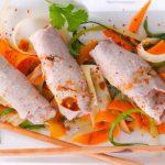 Lafers Gedämpfte Fleischröllchen vom Schweinefilet mit Ingwer und Pflaumen