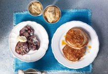 vegane Pancakes und veganes Karamelleis von Sternekoch Paul Ivic