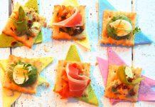 Johann Lafer: Köstliche Cracker mit Ananas-Geflügelsalat, Ratatouille oder Wachtelei