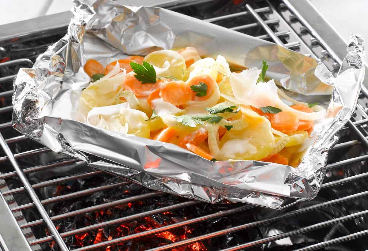 Fleischloses vom Grill: Kartoffelgemüse