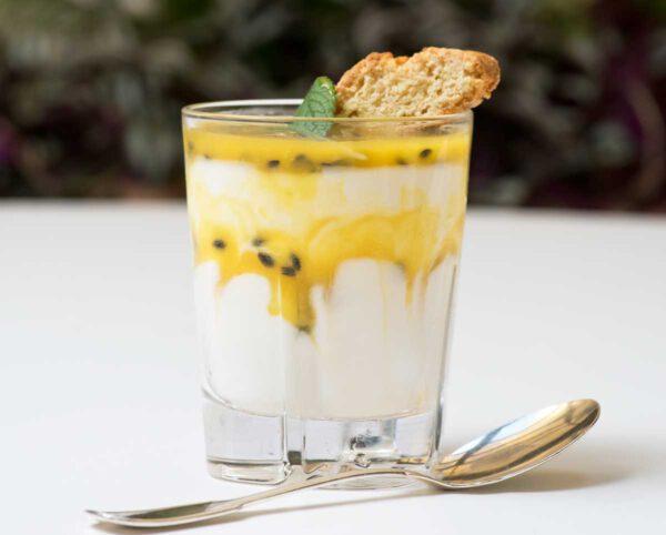 Joghurt & Passionsfruchtgelèe