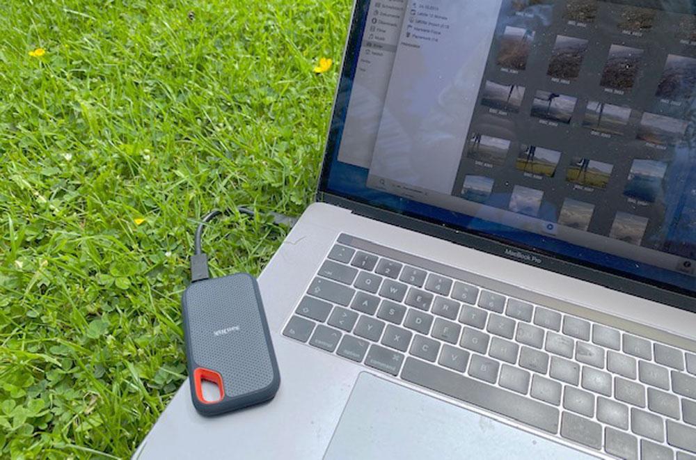 Idealer Begleiter: eine SanDisk Extreme Portable SSD