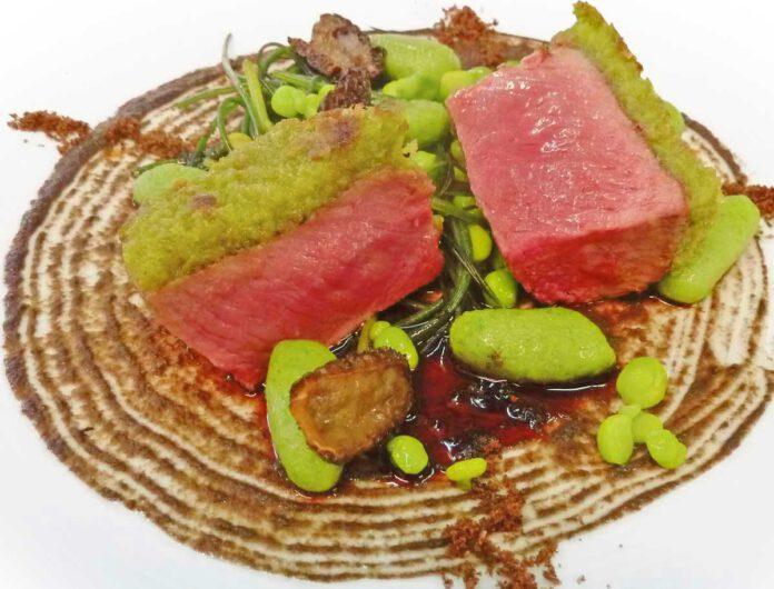 Alexander Dressel: Lamm mit Bärlauchgnocchi und Pilzen